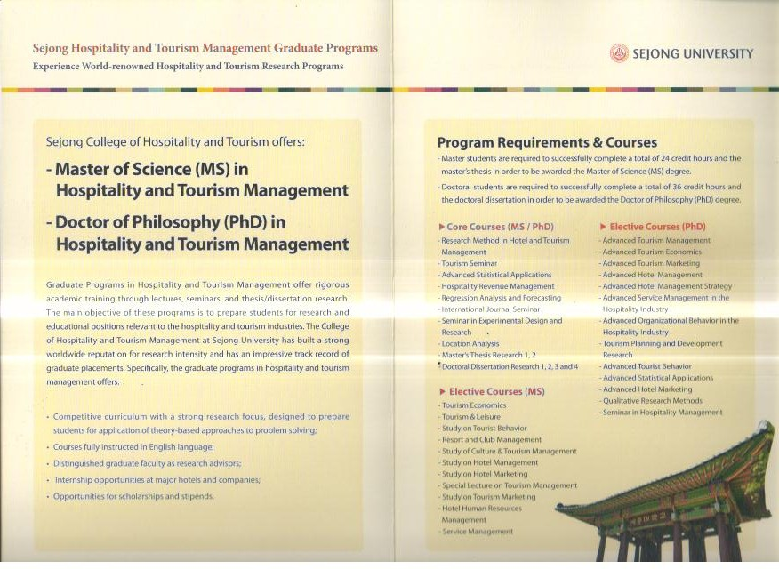 master thesis in tourism industry Master of science in hospitality management (thesis) graduate students interested in conducting research in hospitality and tourism management research during graduate and post-graduate studies can choose the thesis track of the master of science in hospitality management.
